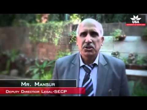 Mr  Mansur  Deputy Director Legal   SECP   University of South Asia, Lahore  Facebook