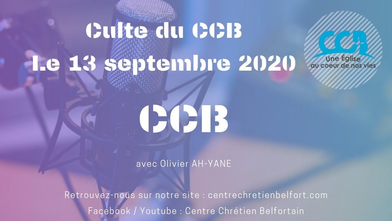 CCB - Culte du 13 septembre 2020