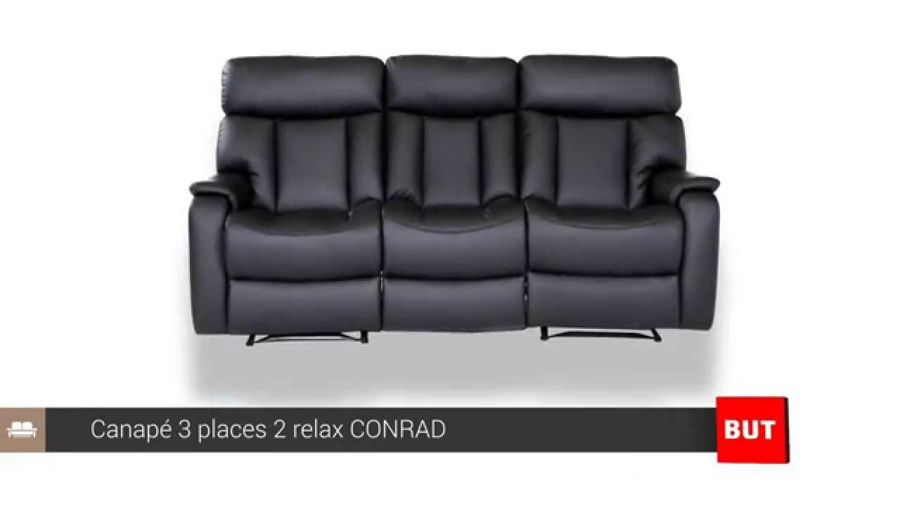 canap 3 places 2 relax conrad but youtube. Black Bedroom Furniture Sets. Home Design Ideas