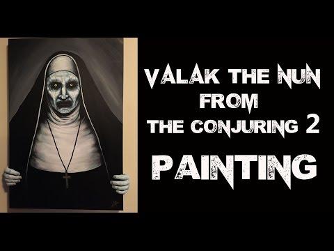 Conjuring 2 Valak Nun PAINTING