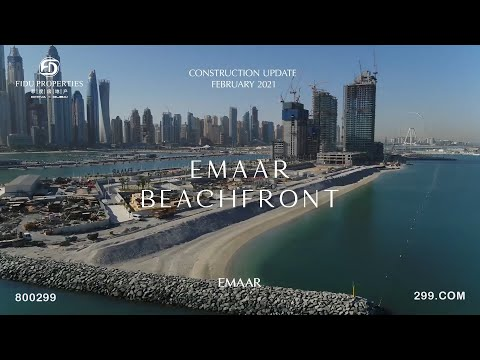 EMAAR Beachfront Construction Update (February 2021)   FIDU Properties