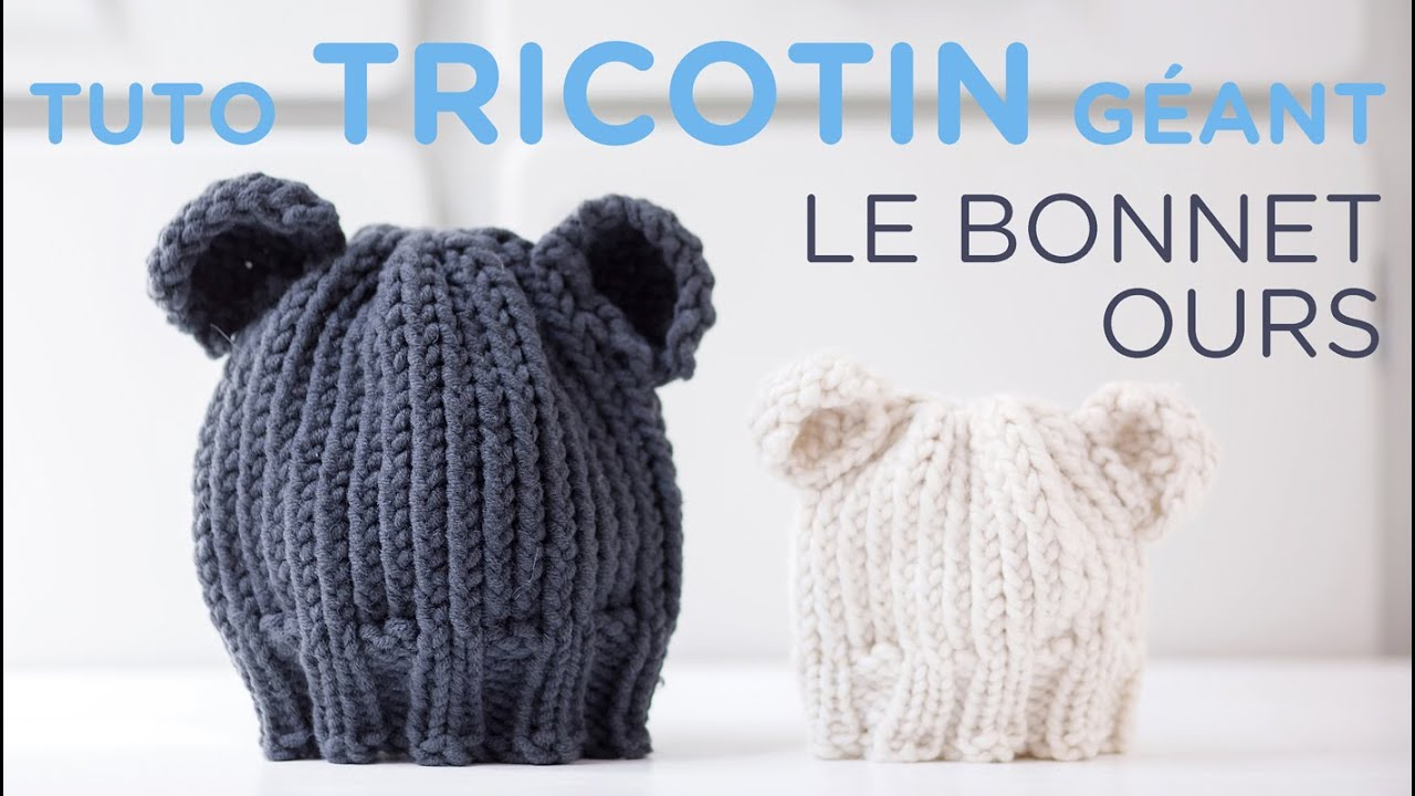 Souvent Tuto tricotin : le bonnet ours / Loom knit a bear beanie - YouTube PN55