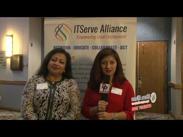 Neera Bahl, owner of Neera Bahl & Associates and Shilpa Jadwani, Associate talking to Desiplaza