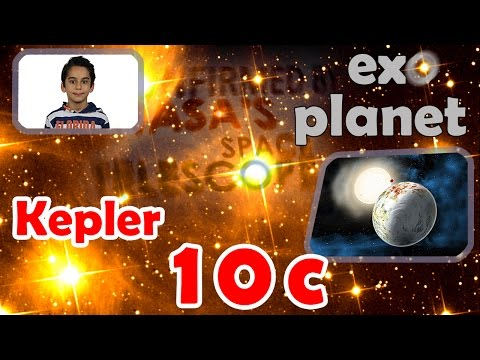 8 year old Atbin explains: Kepler-10c; a mainly rocky planet with around 5–20% ices by mass