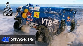 Games in 4K - Too HOT - DAKAR 18 Game - TRUCKS - FULL Stage 05 (Marcona - Arequipa) KAMAZ