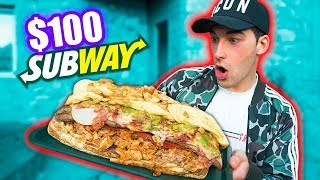 SUBWAY'S $100 SANDWICH CHALLENGE *10,000 calories*