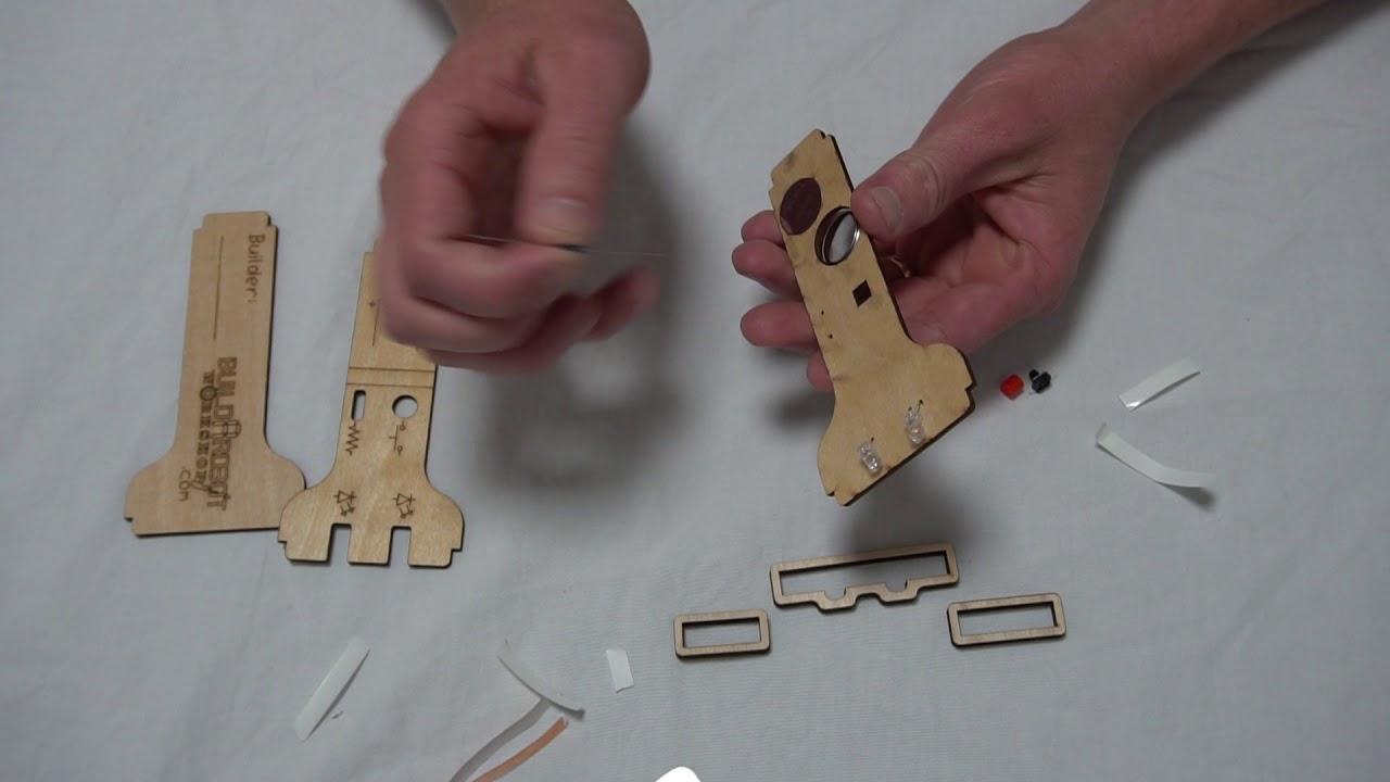 DIY LED Flashlight Kit-build a robot workshop