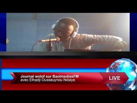 Replay journal wolof sur la radio baolmedias fm touba avec elhadji ousseuynou ndiaye