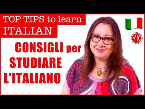 HOW TO LEARN ITALIAN - Come studiare l'italiano: idee e consigli   TOP TIPS