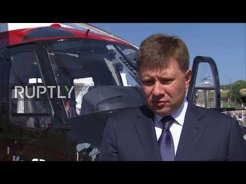 Russia: Russian Helicopters unveils new civilian Ka-62 model at Eastern Economic Forum