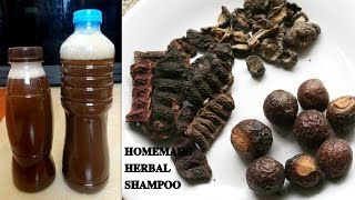 How to GROW LONGER AND THICKER HAIR NATURALLY HOMEMADE NATURAL HERBAL SHAMPOO AMLA REETHA SHIKAKAI