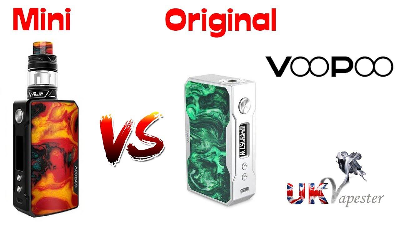 VooPoo Drag Mini VS Original Drag (+Drag 2)