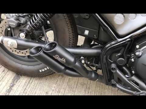 Diablo Custom Works Quot Twin Tube Short Quot Slip On For Honda