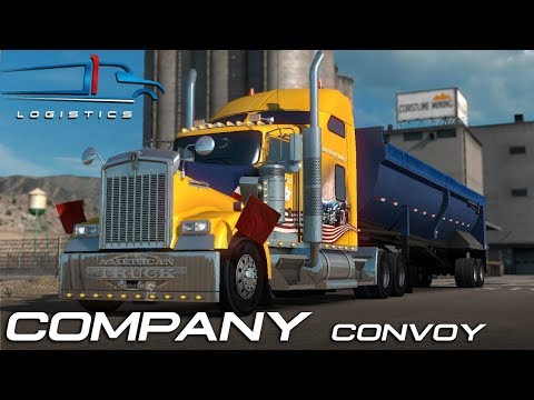 FTG UNITED LOGISTICS OPEN FOR BUSINESS   EPIC COMPANY CONVOY   AMERICAN TRUCK SIMULATOR ONLINE