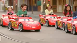 kids race power wheels to cars land