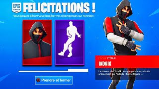 "VOICI 3 FACTS OF THE SKIN ""IKONIK"" FREE ON FORTNITE!"