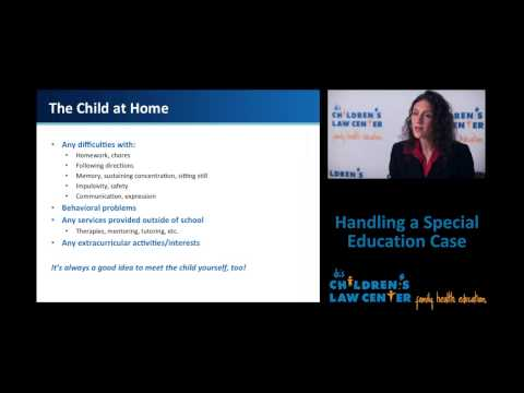 Handling a Special Education Case: From First Contact through Advocacy Development