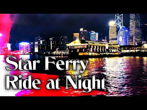 Star Ferry Ride at Night / Hong Kong HD