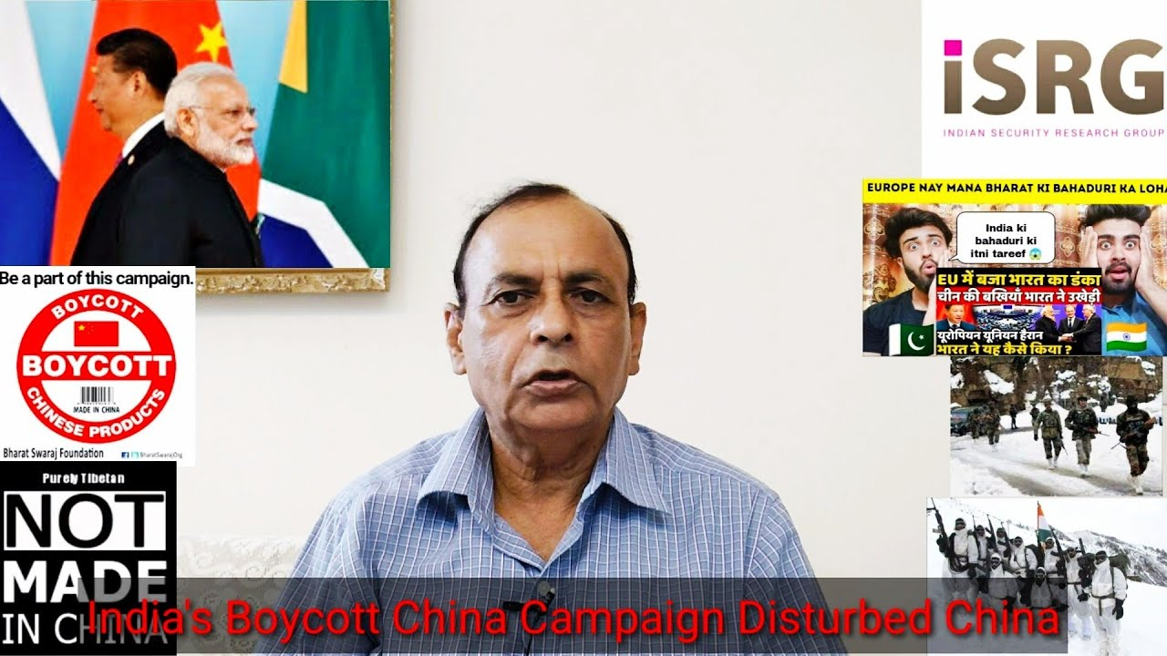 India's Boycott China Campaign Disturbed China - Wants War Should Not Disturb Trade/NK Sood Ex-RAW