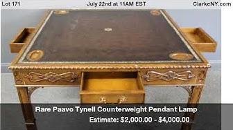 Rare Paavo Tynell Counterweight Pendant Lamp