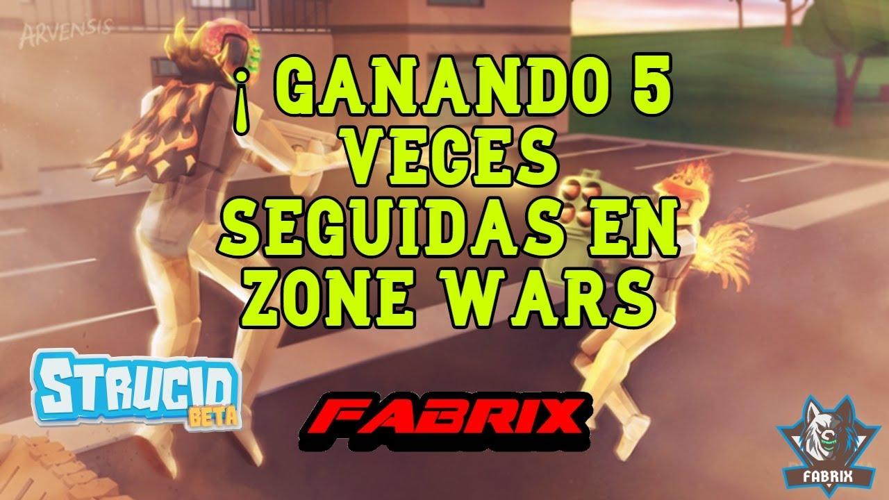 ¡Ganando 5 veces seguidas en zone wars ( strucid )/ FABRIX ...