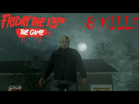FRIDAY THE 13th THE GAME | JASON PART 4 Gameplay 8 kills