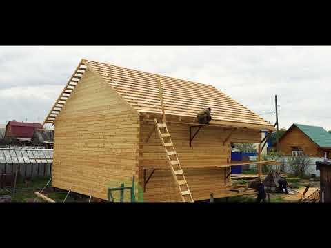 Строительство дома из бруса на фундаменте из винтовых свай - Изба Мастер