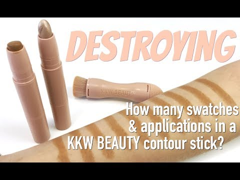 THE MAKEUP BREAKUP - How many swatches & applications in the KKW BEAUTY Contour Stick?