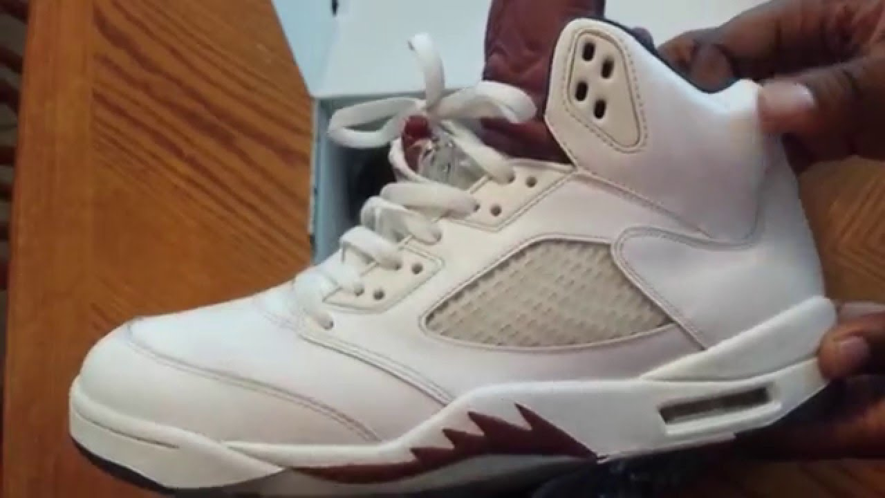1dcafaa186db55 Custom Closet  Air Jordan V (5) Maroon - YouTube
