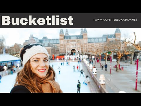 Christmas in Amsterdam: Ice skating at Museum Square // Your Little Black Book