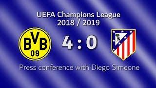 Borussia Dortmund - Atlético de Madrid: Conferencia de prensa con Diego Simeone