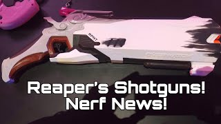 First Look: Reaper ShotGun From BlizzCon (Nerf Rival) Video