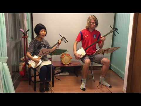 Nagauta Shamisen lesson in Tokyo,Japan