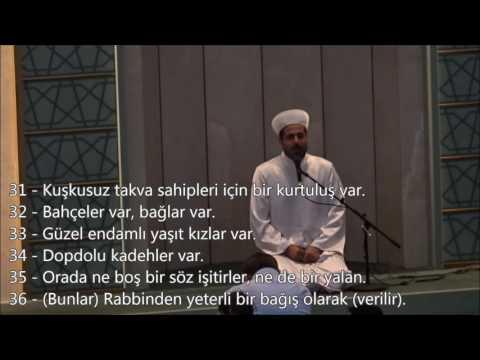 Mehmet BİLİR-Nebe Suresi (31-40)