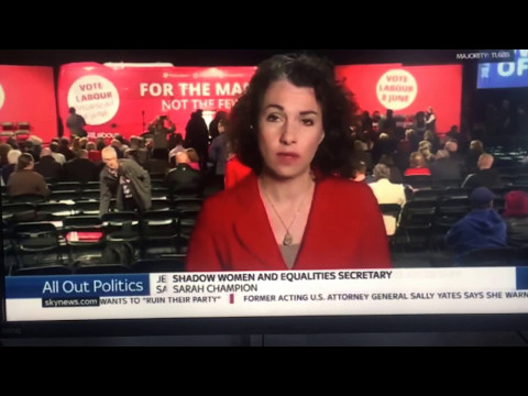 Sarah Champion Labour MP,  Shadow Women rights and Equality Minister  educating SkyNews