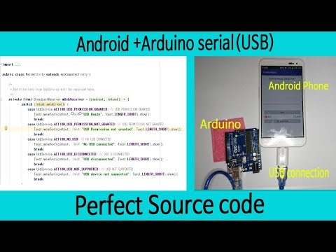 Android+Arduino Serial(USB) Communication. Source Code+APP. Robot Car Project#11