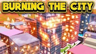 LIGHTING THE CITY ON FIRE! (ROBLOX Jailbreak)