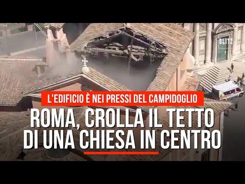 Roma, crolla il tetto di una chiesa in centro: l'edificio è nei pressi del Campidoglio