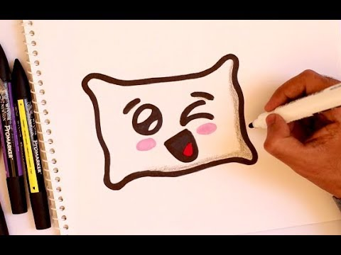 How To Draw A Cute PILLOW EMOJI