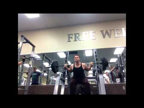 1 year weight lifting, 80/10/10 raw vegan diet- squat,bench press, p-rows