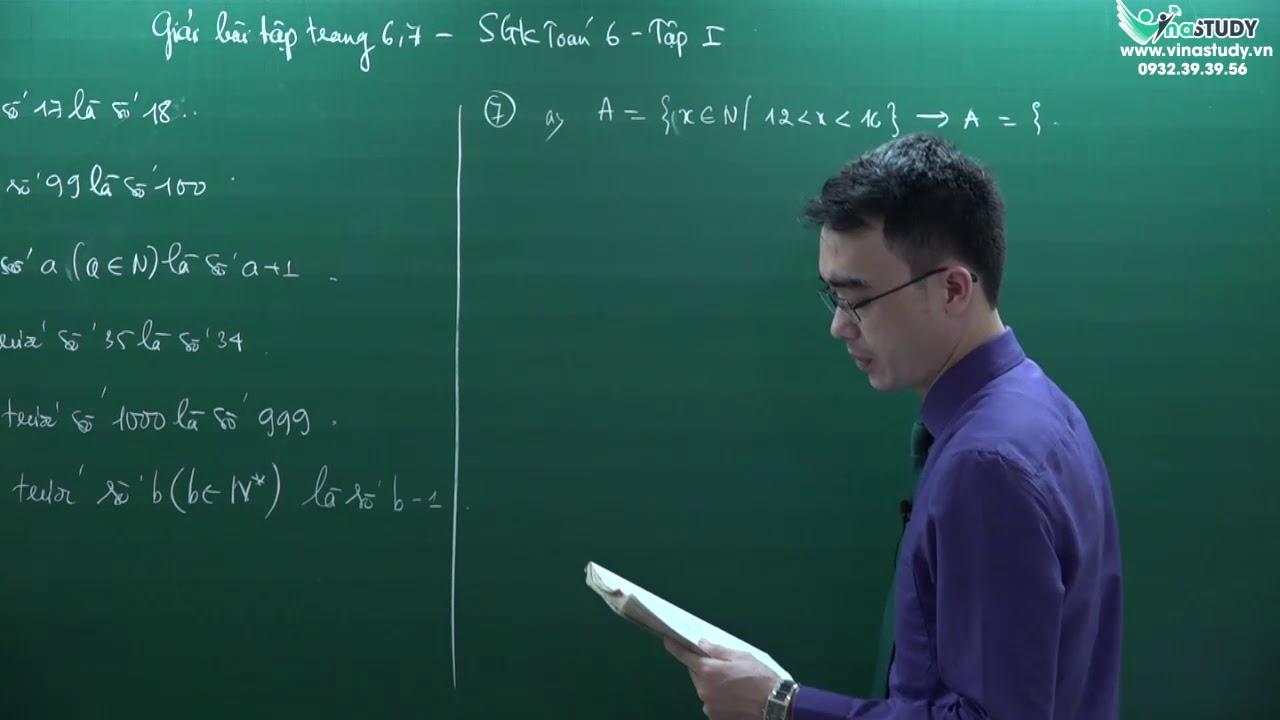 [Toán lớp 6] Giải bài tập trang 7,8 – Sách giáo khoa toán 6 tập 1