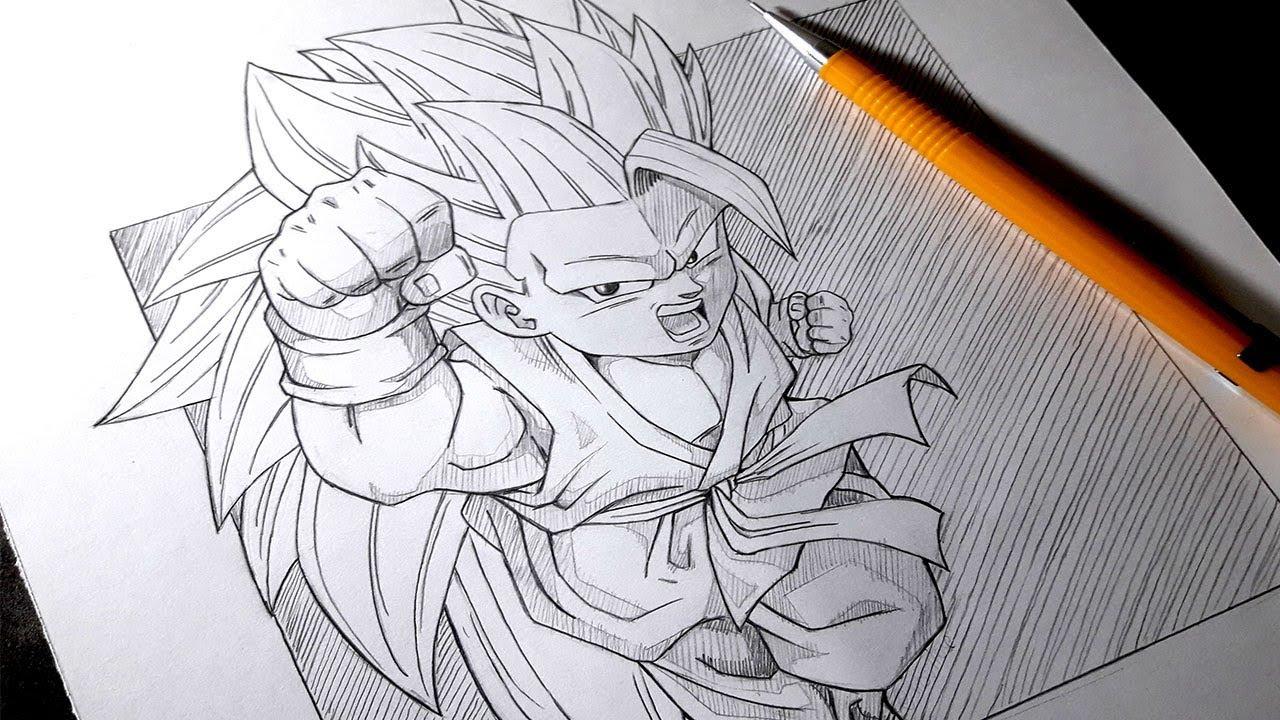 Cansado Del Color Como Dibujar A Goku Ssj 3 En Blanco Y Negro How To Draw Goku Ssj 3 Dibu House