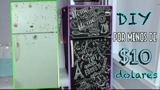 DIY | RENUEVA TU NEVERA POR MENOS DE $10 DOLARES | Lore Peñ...
