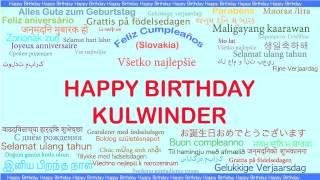 Kulwinder   Languages Idiomas - Happy Birthday