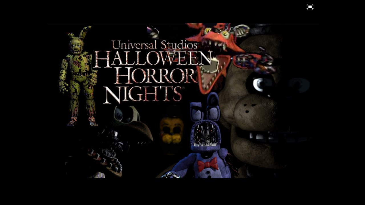 Five Nights At Freddy's Halloween Horror Nights (Photoshop) - YouTube