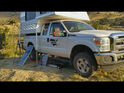 Eclipse campsite on BLM land in Wyoming - Capri camper