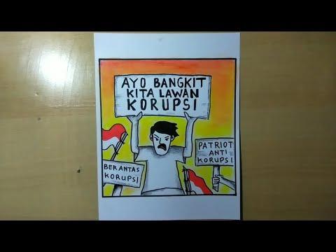 Cara Membuat Poster Anti Korupsi Desain Poster Anti Korupsi
