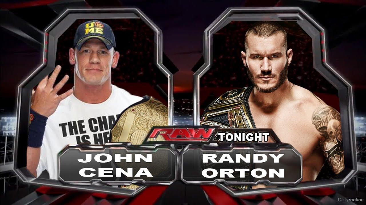 WWE Raw Johncena Vs Randy Orton (Champion Vs Champion ...  WWE Raw Johncen...