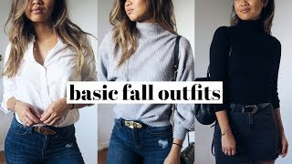 One of rachspeed's most viewed videos: SIMPLE FALL OUTFITS | Capsule Wardrobe