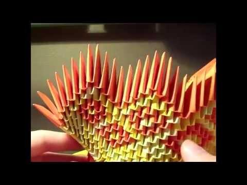 easier 3d origami mini diamond patern swan tutorial | 3d origami ... | 360x480